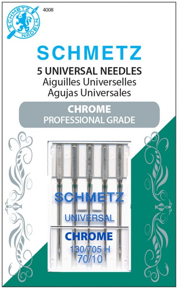 4008 - Chrome Universal Schmetz Needle 5 ct