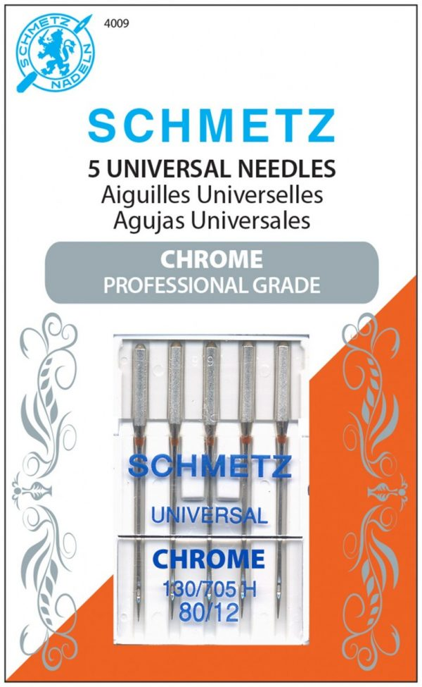 4009 - Chrome Universal Schmetz Needle 5 ct