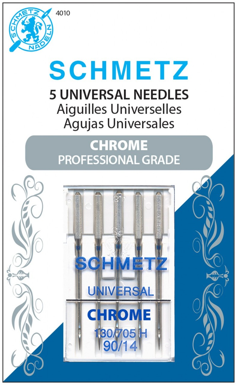 4010S - Chrome Universal Schmetz Needle 5 ct