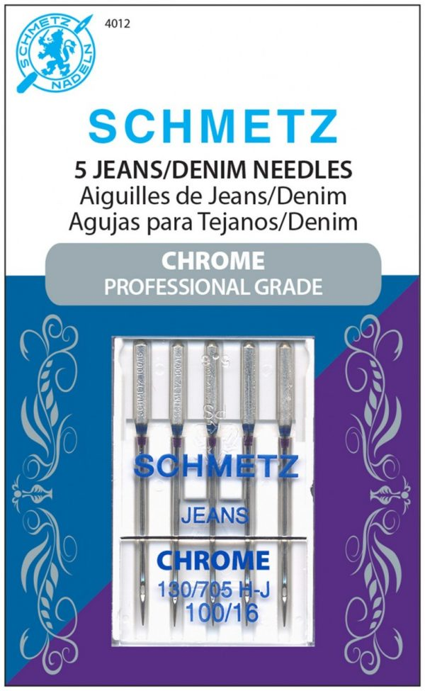 4012S - Chrome Denim Schmetz Needle 5 ct
