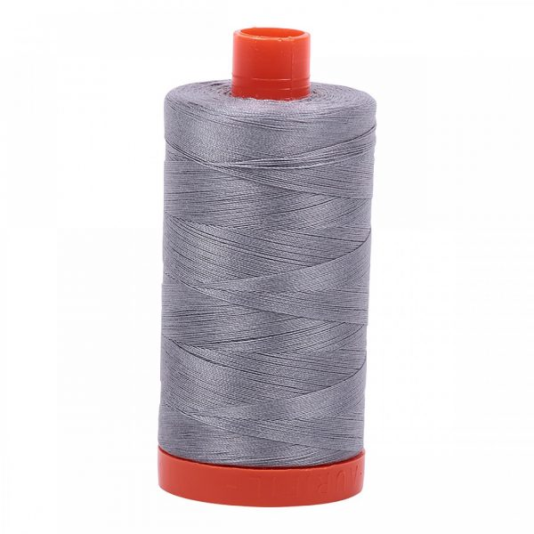 A1050-2605 - Mako Cotton Thread Solid 50wt 1422yds Grey