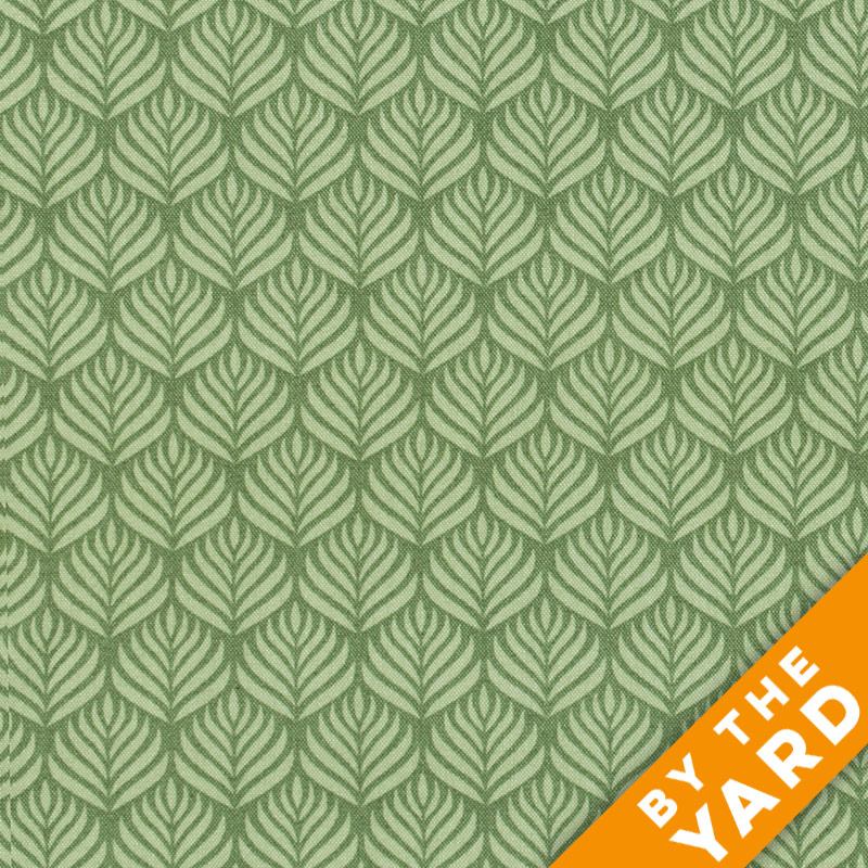 Andover - The Color Collection by Modern Quilt Studio - Green Leaf - By the Yard