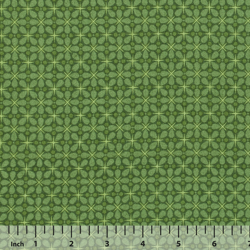 Andover - The Color Collection by Modern Quilt Studio - Green Geometric - By the Yard