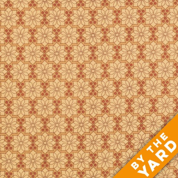 Andover - The Color Collection by Modern Quilt Studio - Orange Floral - 7486-O - By the Yard