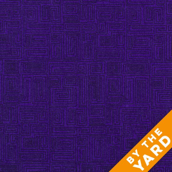 Andover - The Color Collection by Modern Quilt Studio - Purple Labyrinth - 7092-P - By the Yard