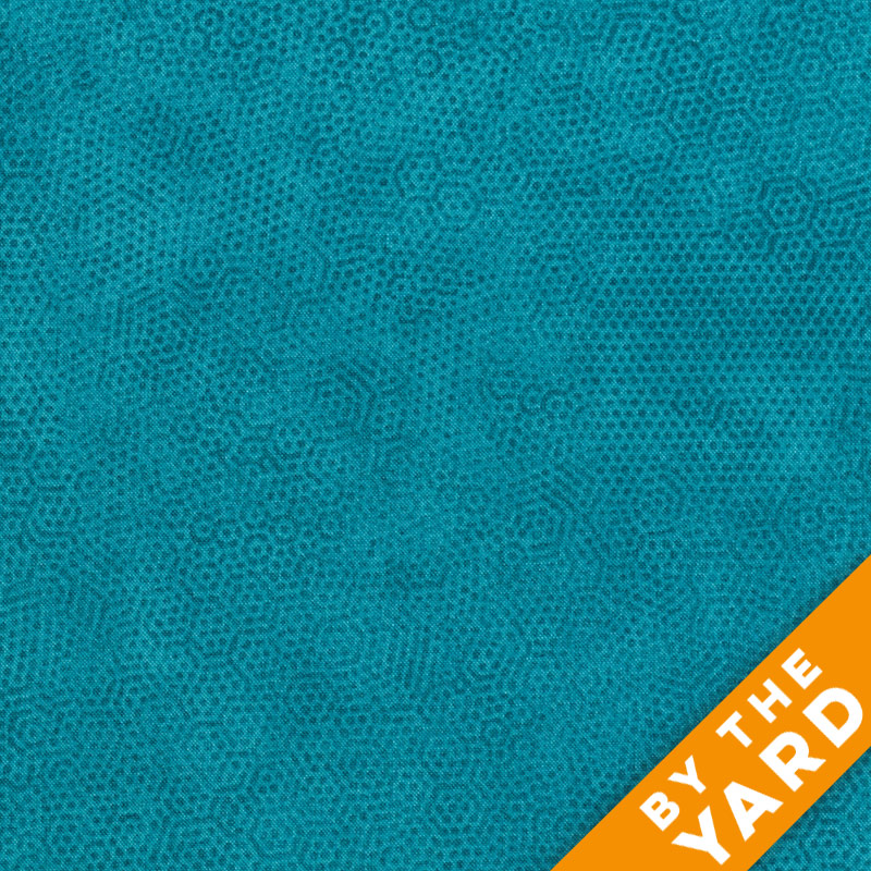 Andover Dimples by Gail Kessler - Teal - By the Yard
