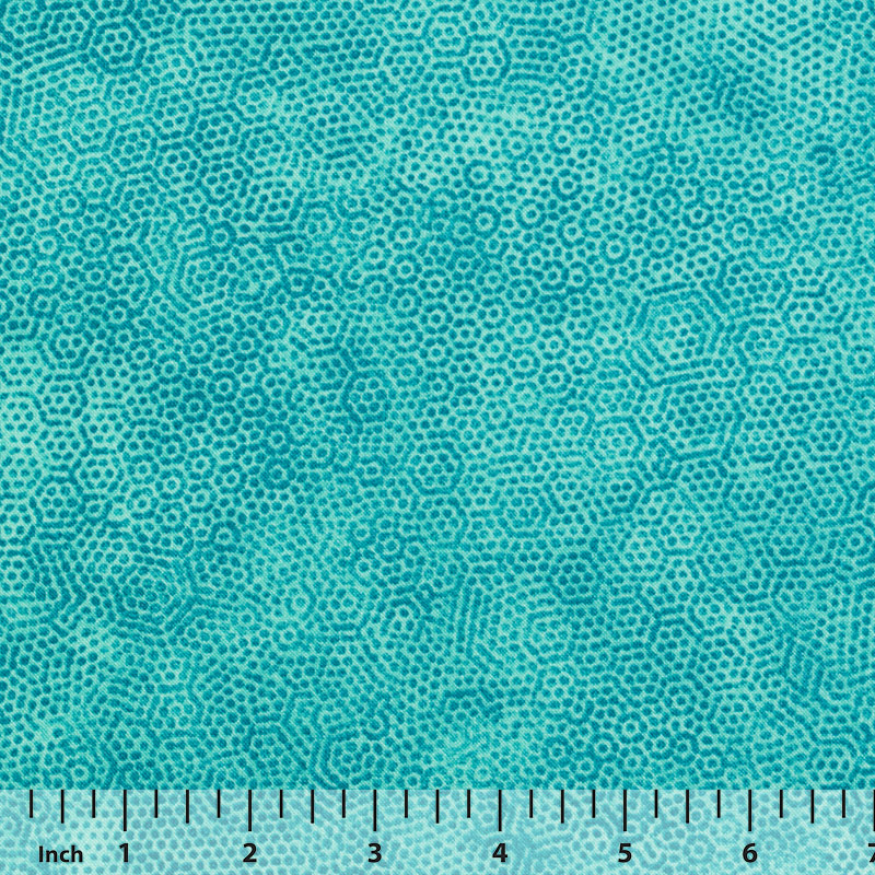 Andover Dimples by Gail Kessler - Turquoise - By the Yard