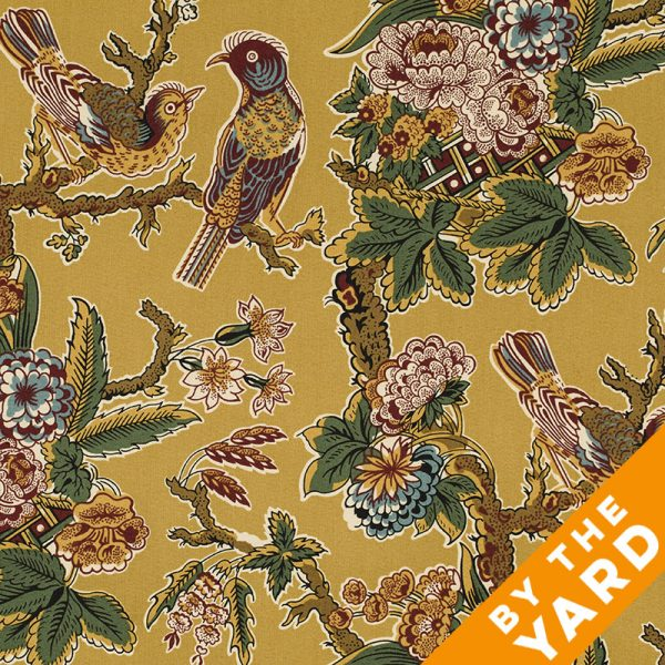 Andover Spice Market by Jo Morton/Jo's Chintz - Gold Birds - By the Yard