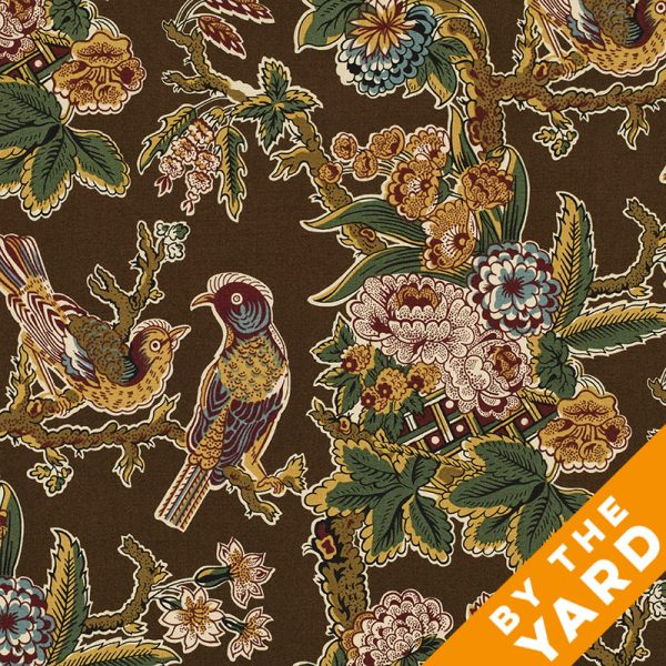 Andover Spice Market by Jo Morton/Jo's Chintz - Brown Birds - By the Yard