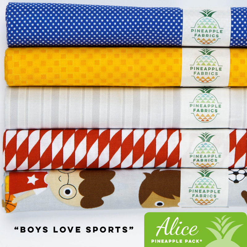 Boys Love Sports - Alice Pineapple Pack