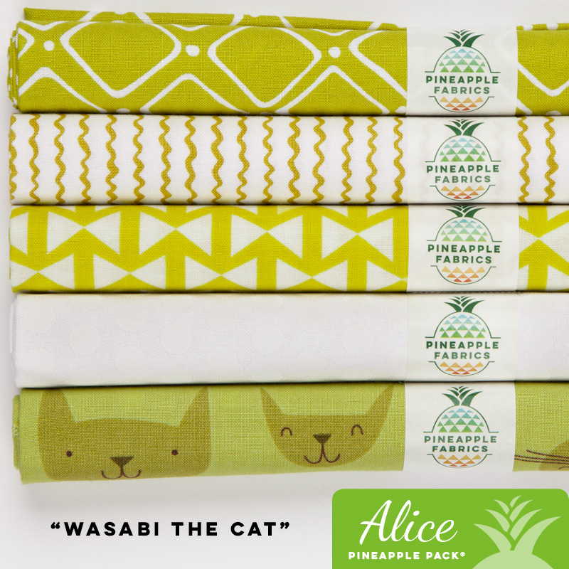 Wasabi the Cat - Alice Pineapple Pack