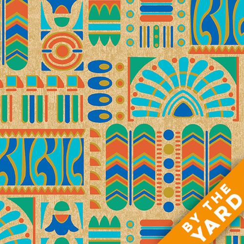 Andover - Downton Abbey - The Egyptian Collection - 7620-MLN - Fabric by the Yard