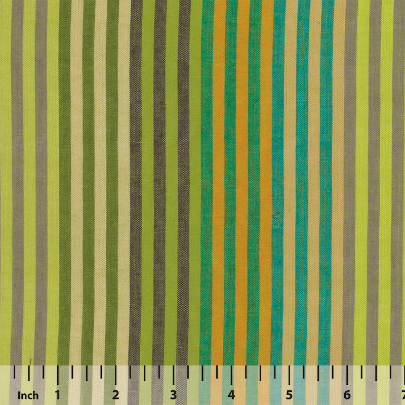 Rowan Woven Stripes by Kaffe Fassett - Caterpillar Stripe Sprout - By the Yard