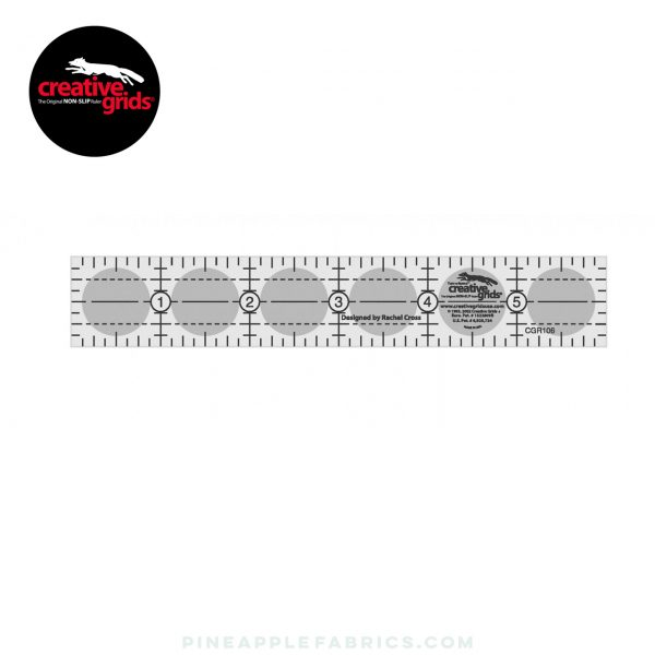 CGR112 - Creative Grids Quilt Ruler 1in x 12in