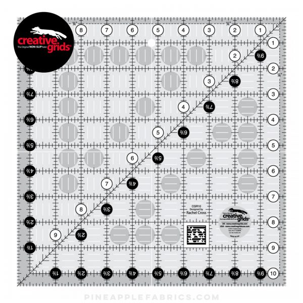 CGR10 - Creative Grids Quilt Ruler 10-1/2