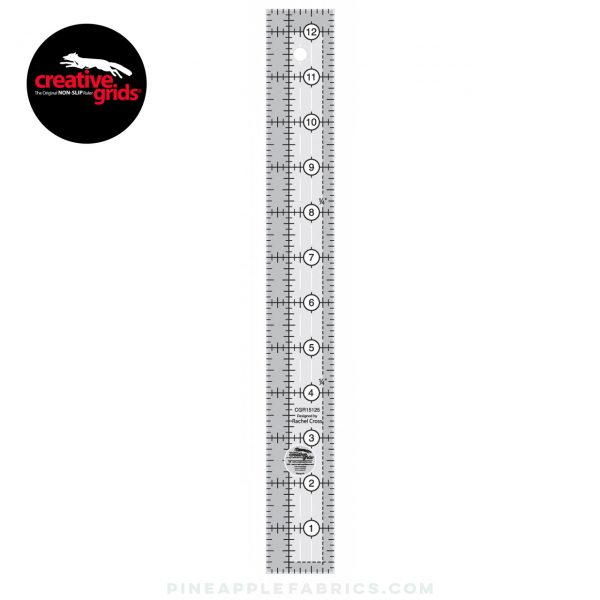 CGR15125 - Creative Grids Quilt Ruler 1-1/2in x 12-1/2in