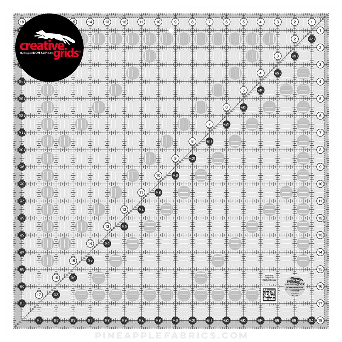 CGR1818 - Creative Grids Quilt Ruler 18-1/2in Square