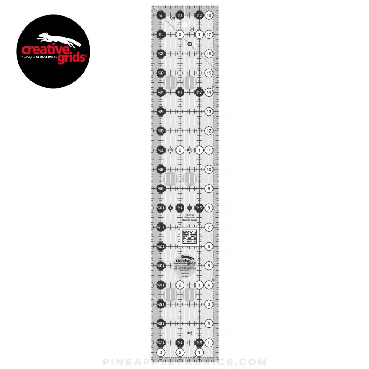 CGR318 - Creative Grids Quilt Ruler 3-1/2in x 18-1/2in