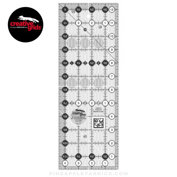 CGR412 - Creative Grids Quilt Ruler 4-1/2in x 12-1/2in