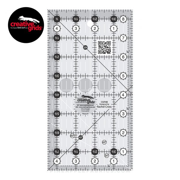 CGR48 - Creative Grids Quilt Ruler 4-1/2in x 8-1/2in