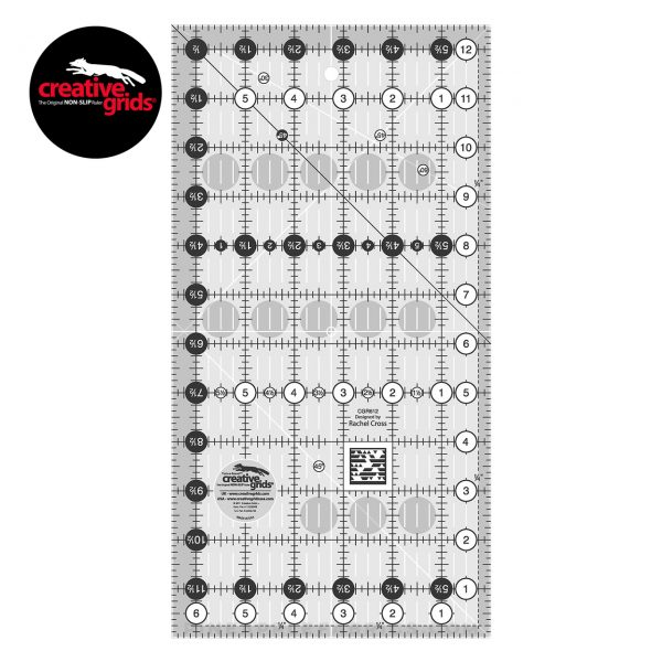 CGR612 - Creative Grids Quilt Ruler 6-1/2in x 12-1/2in