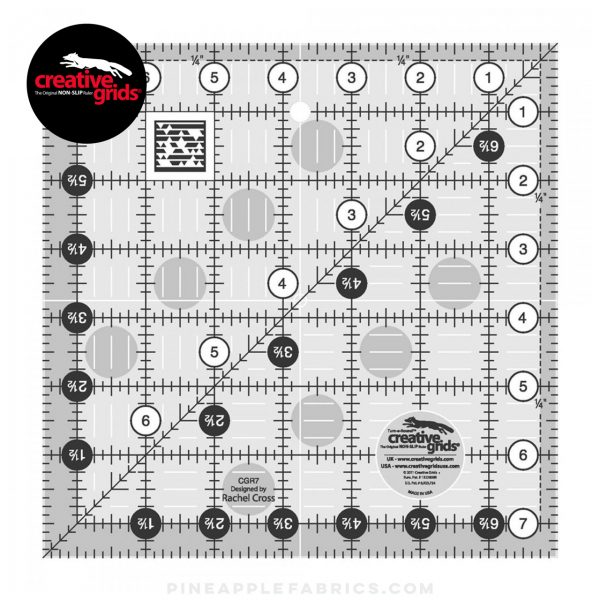 CGR7 - Creative Grids Quilt Ruler 7-1/2in Square
