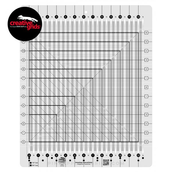 CGRGE2 - Creative Grids Stripology Squared Ruler