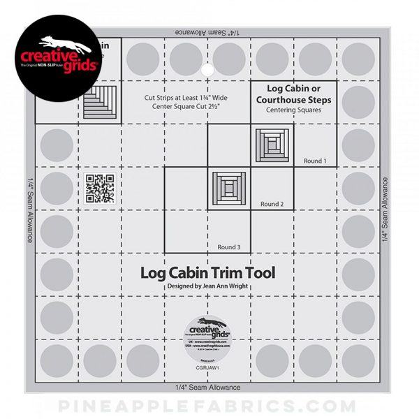 CGRJAW1 - Creative Grids Curvy Log Cabin Trim Tool 8in Finished Blocks