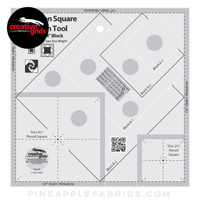 CGRJAW8 - Square on Square Trim Tool - 4in or 8in Finished Quilt Ruler