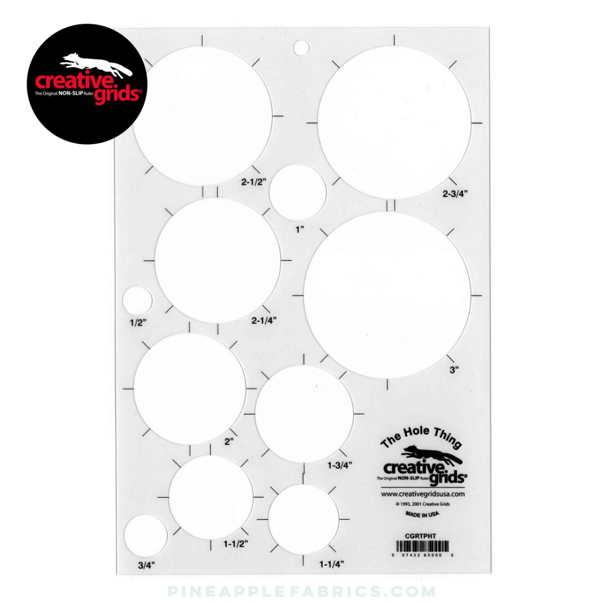 CGRTPHT -  Creative Grids The Hole Thing Template Plastic