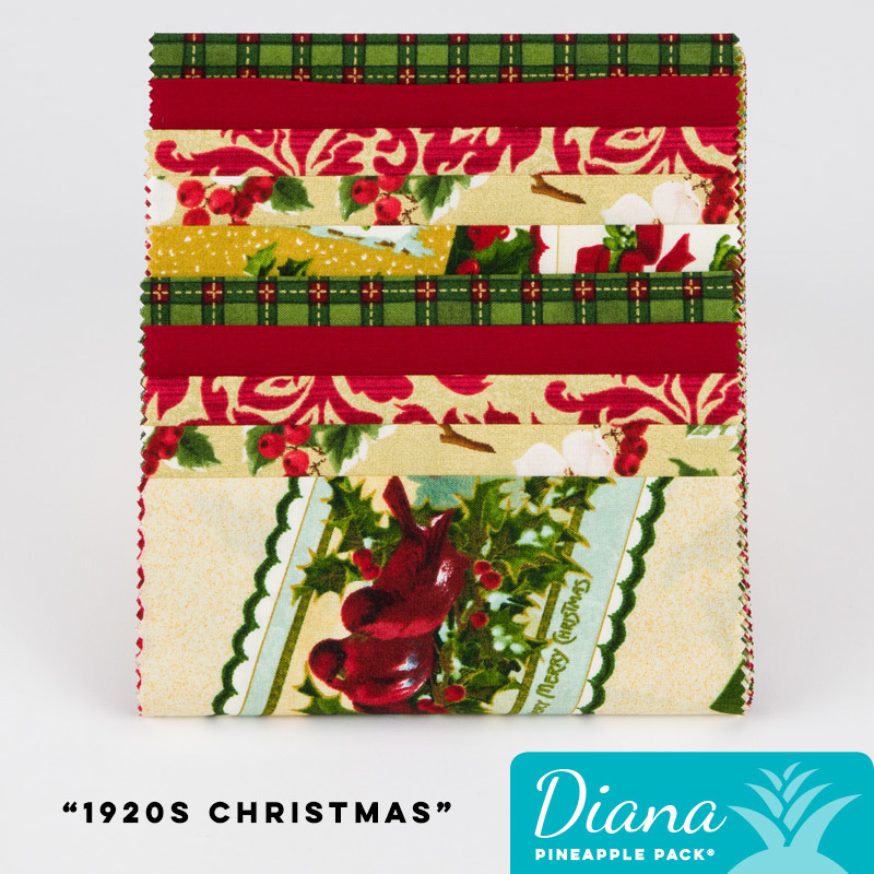 1920 S Christmas Diana Pineapple Pack Pineapple Fabrics