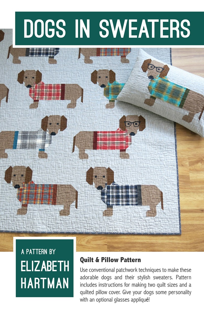 EH034 - Dogs in Sweaters Pattern