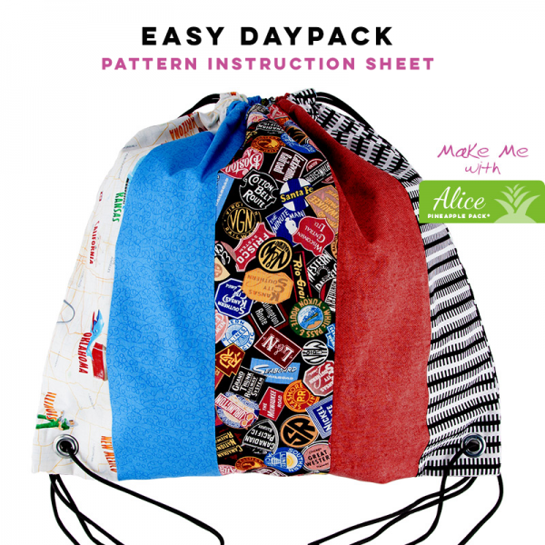 Easy Daypack - Alice Pineapple Pack Pattern