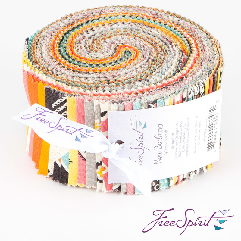 "Denyse Schmidt - New Bedford - Design Roll 2.5"" strips - FreeSpirit Fabrics - 40 pieces"