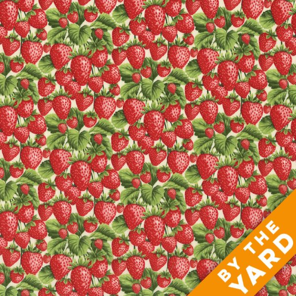 Fabri-Quilt - Fresh Harvest Strawberries - 112-28661 - Fabric by the Yard