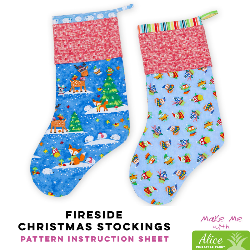 Fireside Christmas Stockings - Alice Pineapple Pack Pattern