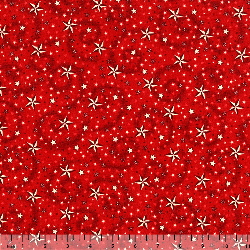 Henry Glass 108 Quilt Back American Dreams Red