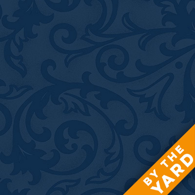 "Henry Glass 108"" Quilt Back Baroque 9939-77 - Blue"