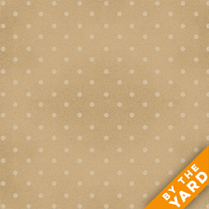 "Henry Glass 108"" Quilt Back Basics by The Buggy Barn 7101-42 - Tan Dot"
