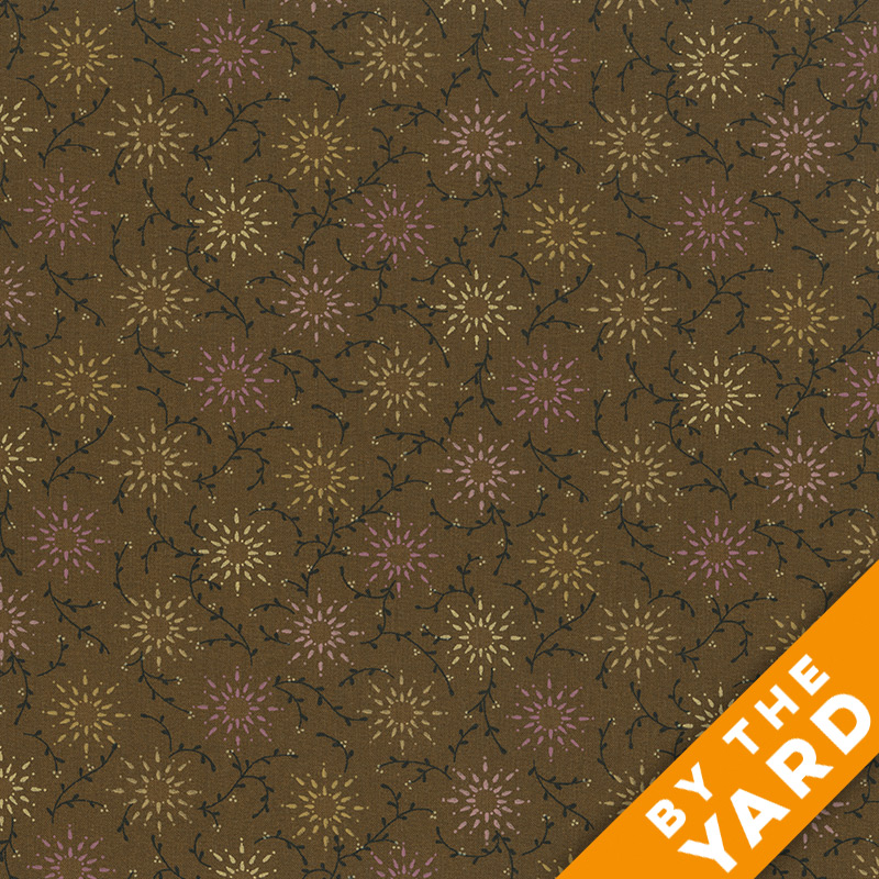 "Prairie Vine by Kim Diehl 108"" Quilt Backs 6235-33 - Brown"
