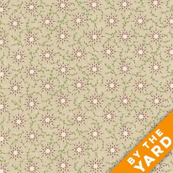 "Prairie Vine by Kim Diehl 108"" Quilt Backs 6235-40 -Cream"