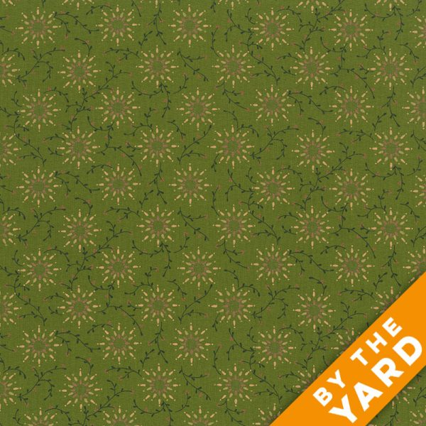 "Prairie Vine by Kim Diehl 108"" Quilt Backs 6235-66 - Green"