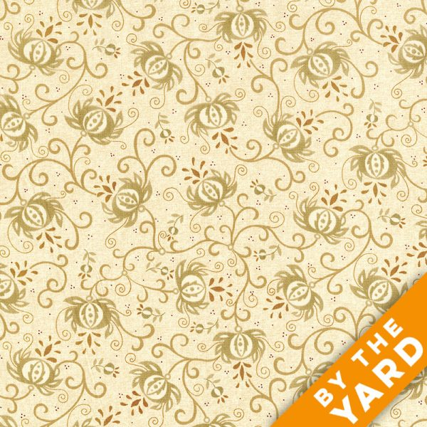 "Spiced Pomegranate by Kim Diehl 108"" Quilt Backs 6631-44 - Light Tan"