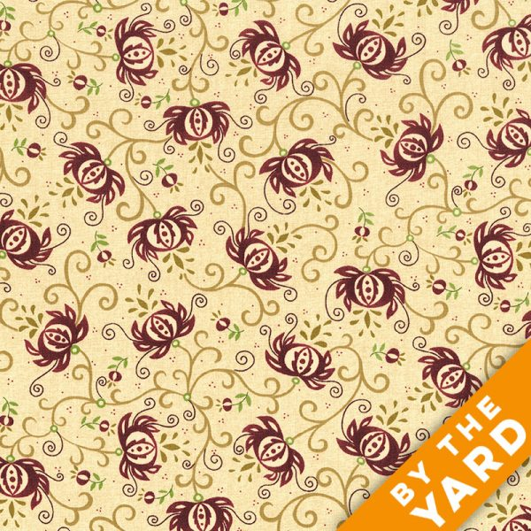 "Spiced Pomegranate by Kim Diehl 108"" Quilt Backs 6631-84 - Pomegranate"