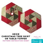 Hexie Christmas Tree Skirt or Table Topper - Diana Pineapple Pack Pattern