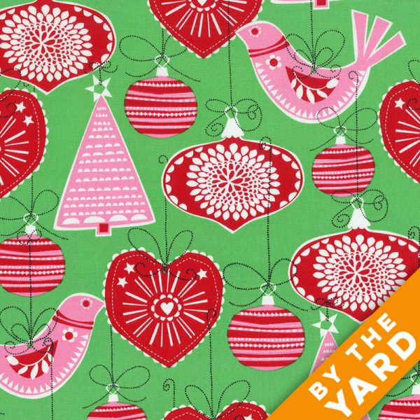 Michael Miller - Ornaments for All CX5752-GREEN - By the Yard