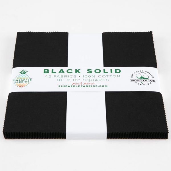 "Black Solids - 10"" Squares"