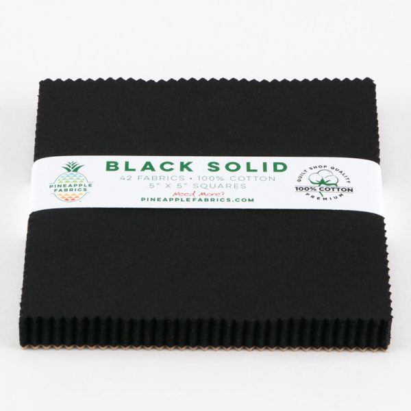 "Black Solids - 5"" Squares"
