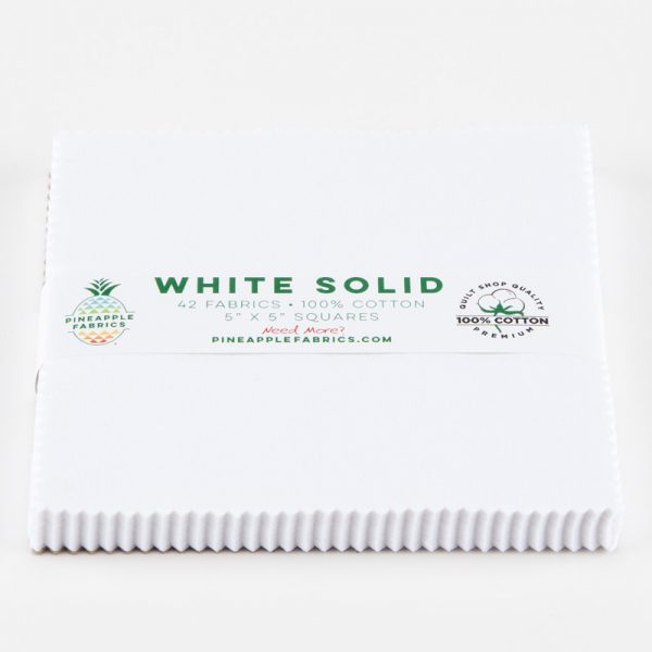 "White Solids - 5"" Squares"