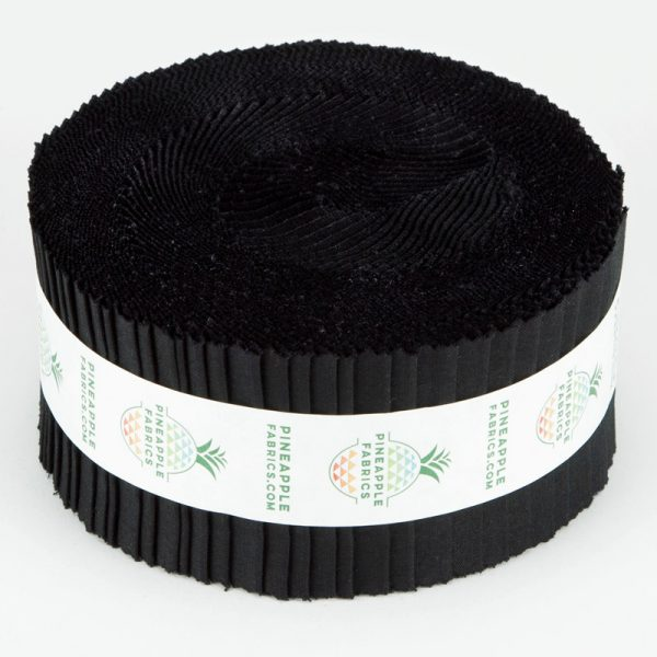 Black Solid - 2.5 Strips - Pineapple Fabrics